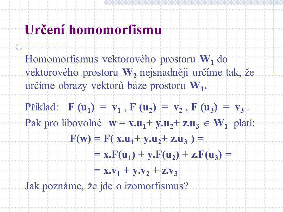 Určení homomorfismu