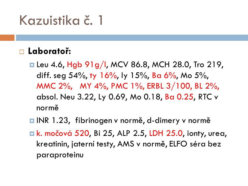 Kazuistika č. 1 Laboratoř: