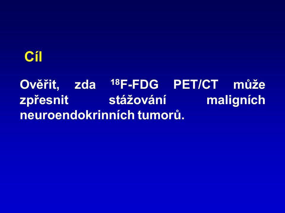 Cíl Ověřit, zda 18F-FDG PET/CT může zpřesnit stážování maligních neuroendokrinních tumorů.