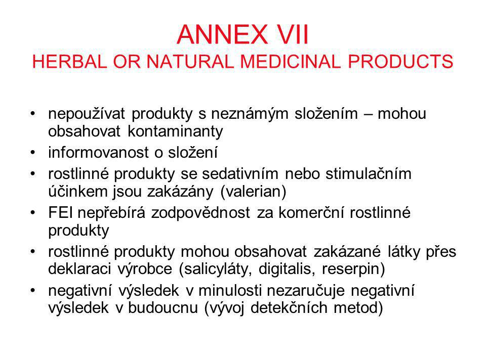 ANNEX VII HERBAL OR NATURAL MEDICINAL PRODUCTS