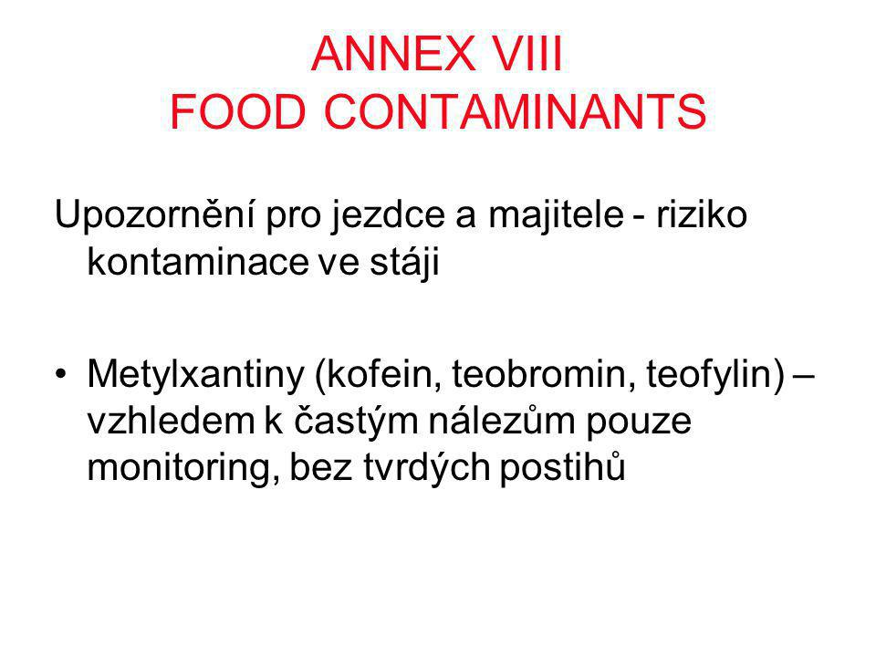 ANNEX VIII FOOD CONTAMINANTS