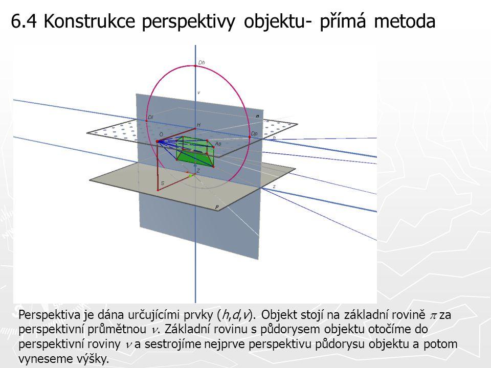 6.4 Konstrukce perspektivy objektu- přímá metoda