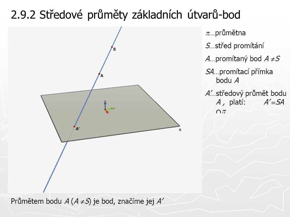 2.9.2 Středové průměty základních útvarů-bod