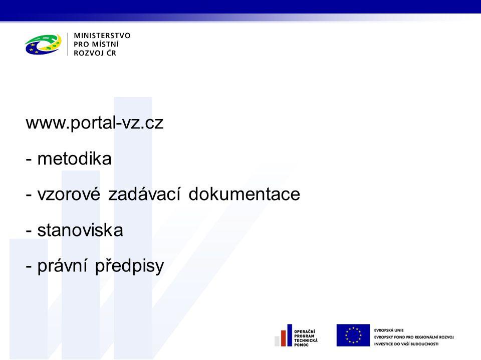 www.portal-vz.cz metodika vzorové zadávací dokumentace stanoviska právní předpisy