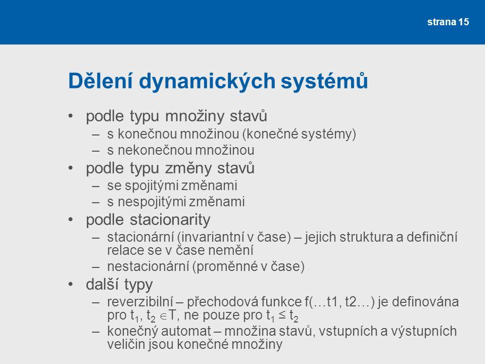 Dělení dynamických systémů