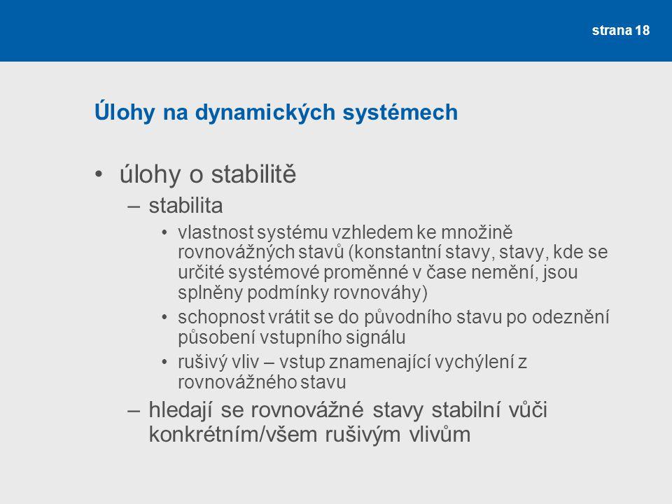 Úlohy na dynamických systémech