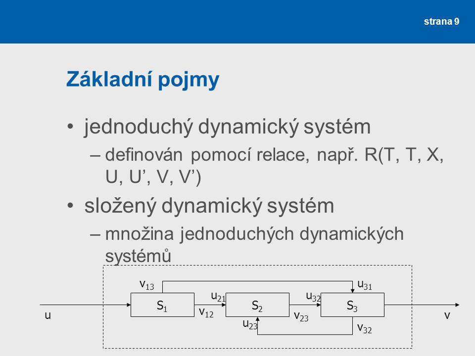 jednoduchý dynamický systém