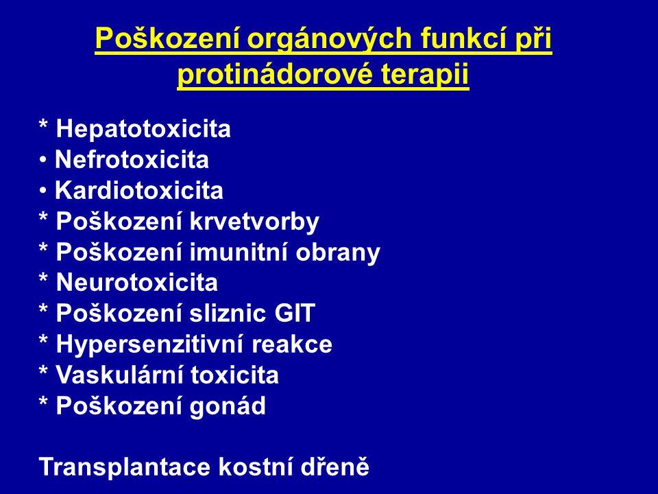 Poškození orgánových funkcí při protinádorové terapii