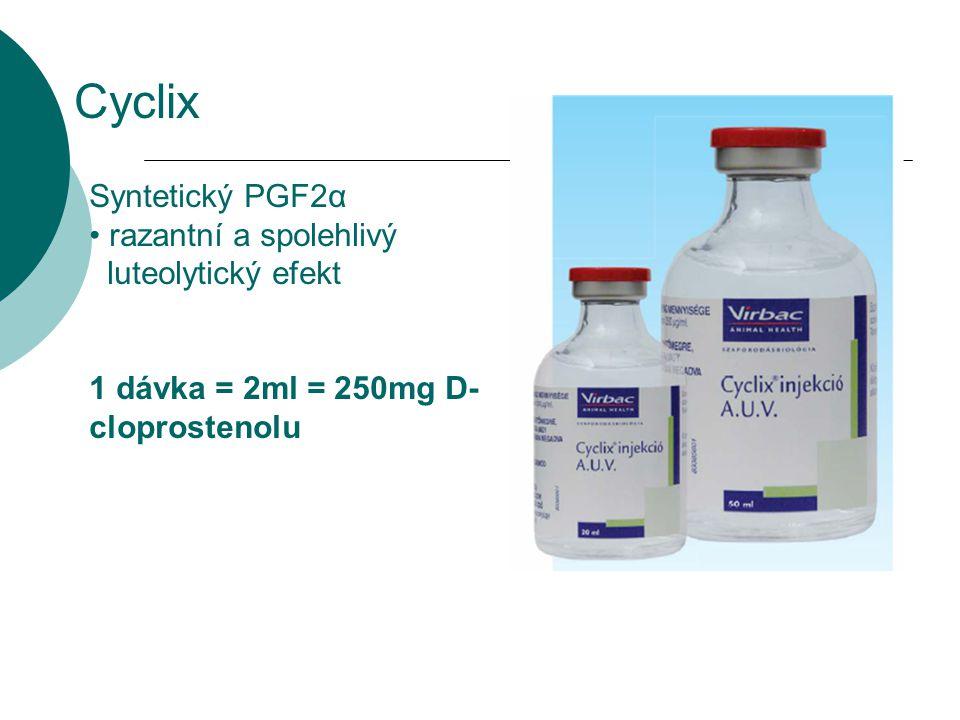 Cyclix Syntetický PGF2α razantní a spolehlivý luteolytický efekt