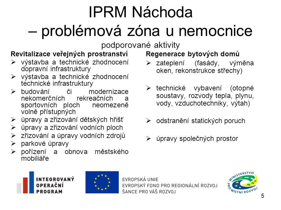 IPRM Náchoda – problémová zóna u nemocnice podporované aktivity