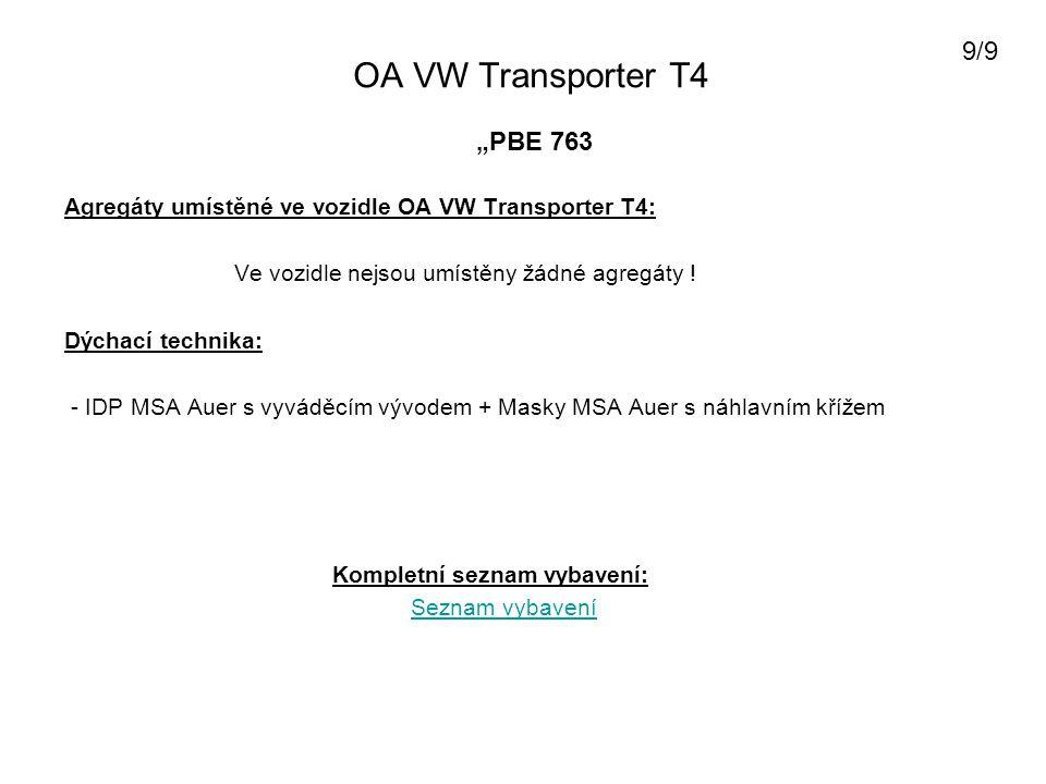 """OA VW Transporter T4 9/9 """"PBE 763"""