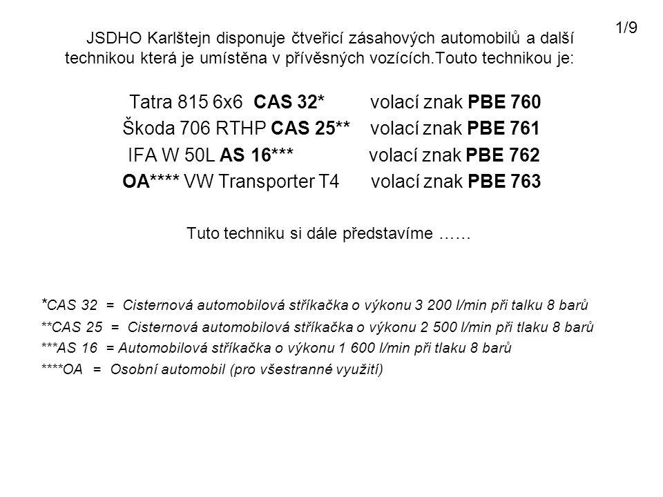 Škoda 706 RTHP CAS 25** volací znak PBE 761