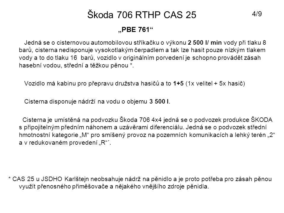 """Škoda 706 RTHP CAS 25 4/9. """"PBE 761"""
