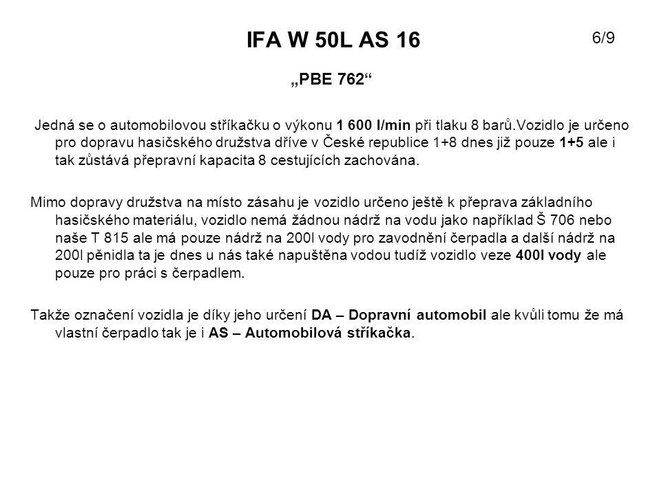 """IFA W 50L AS 16 6/9. """"PBE 762"""