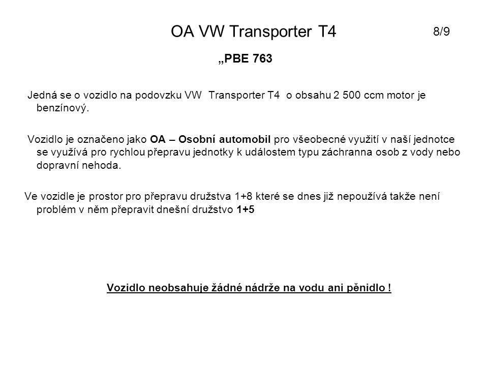 """OA VW Transporter T4 8/9 """"PBE 763"""