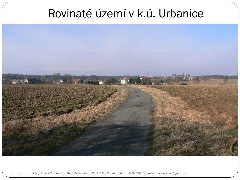 Rovinaté území v k.ú. Urbanice
