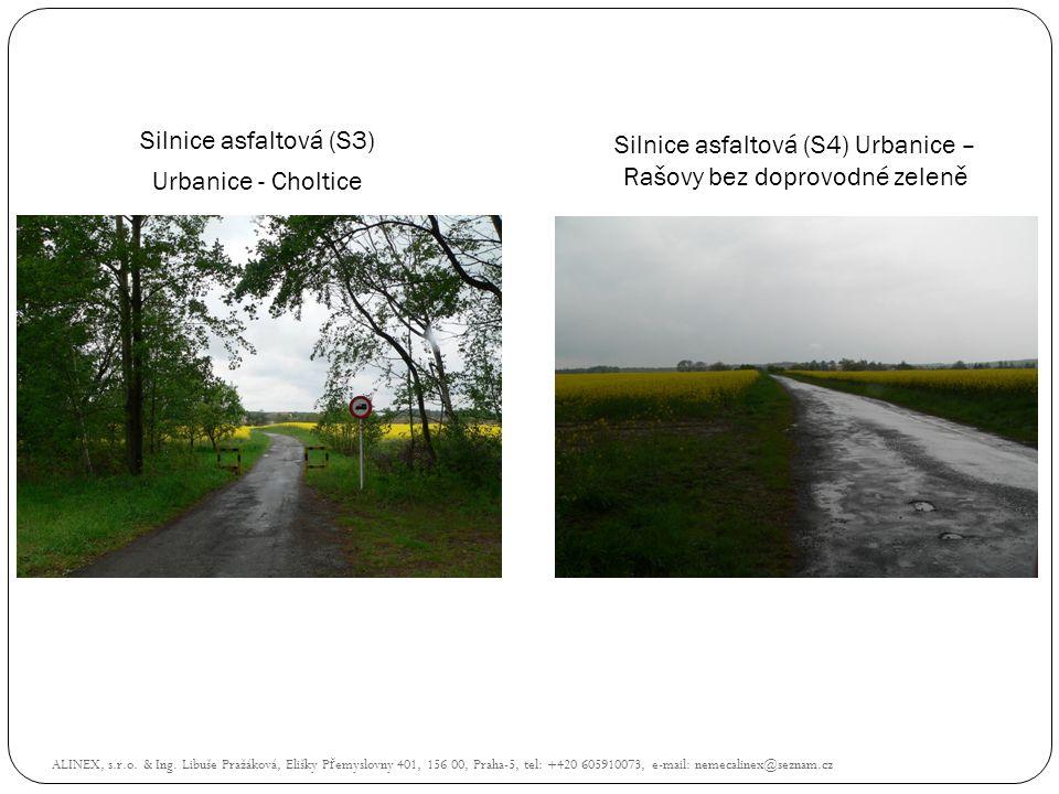 Silnice asfaltová (S4) Urbanice – Rašovy bez doprovodné zeleně