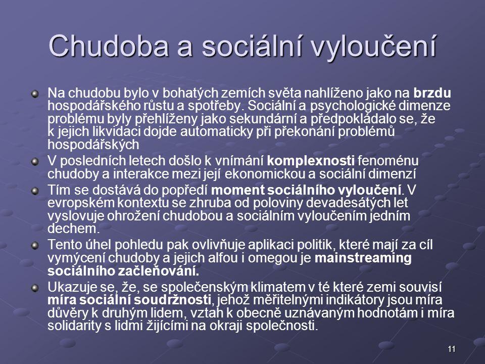Chudoba a sociální vyloučení