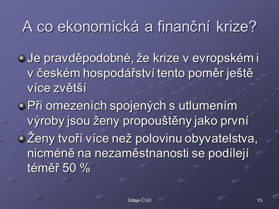 A co ekonomická a finanční krize