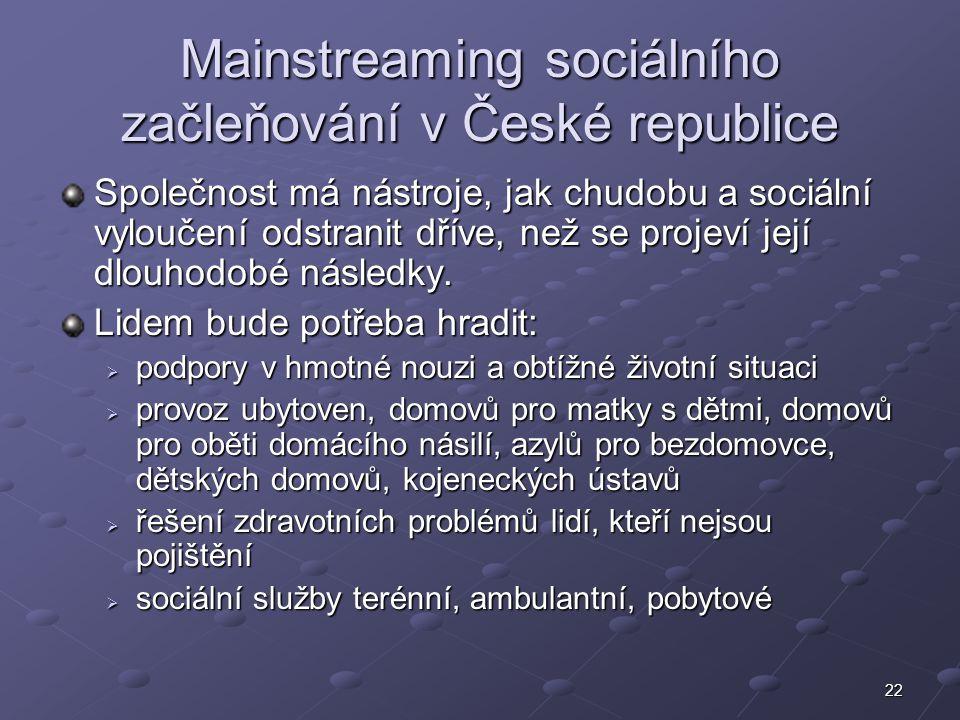 Mainstreaming sociálního začleňování v České republice