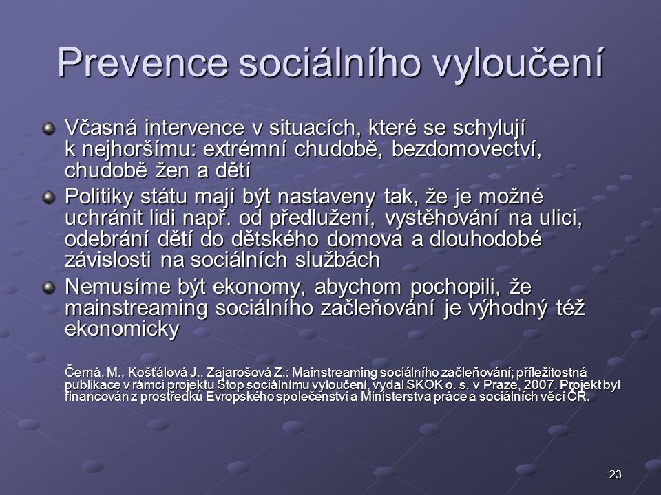 Prevence sociálního vyloučení