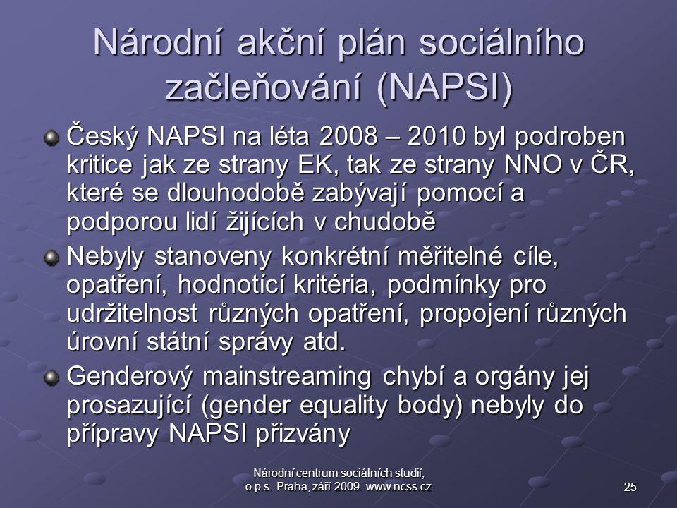 Národní akční plán sociálního začleňování (NAPSI)