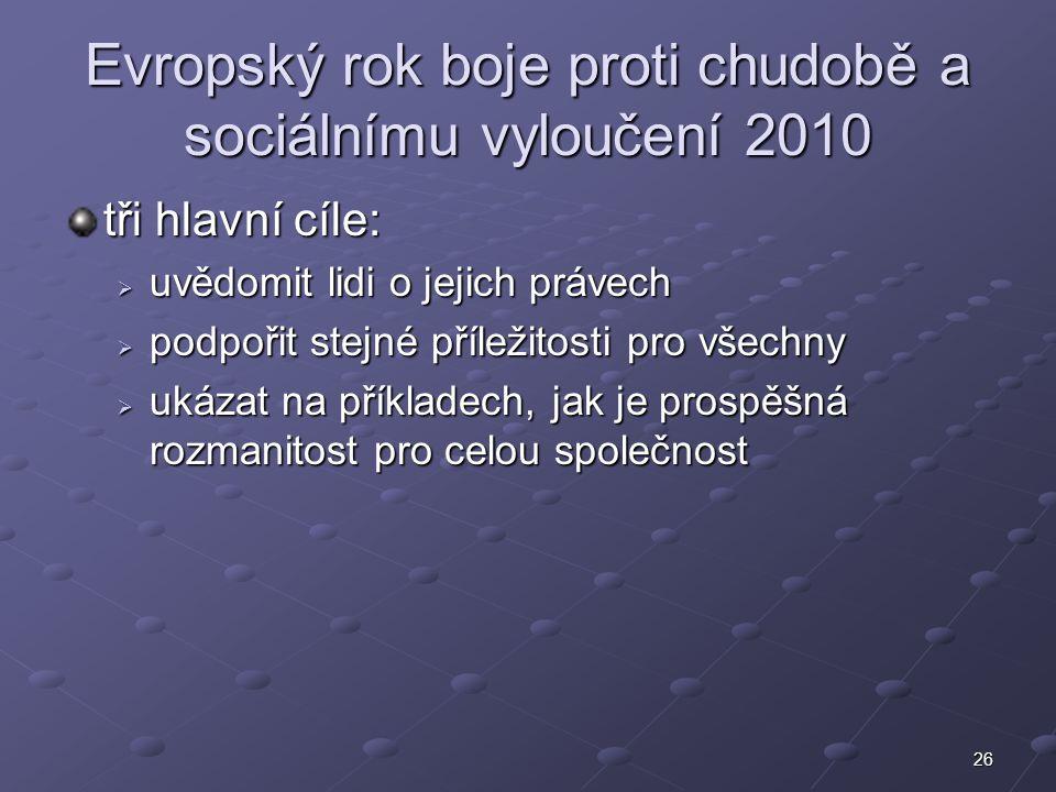 Evropský rok boje proti chudobě a sociálnímu vyloučení 2010