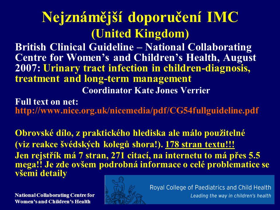 Nejznámější doporučení IMC (United Kingdom)