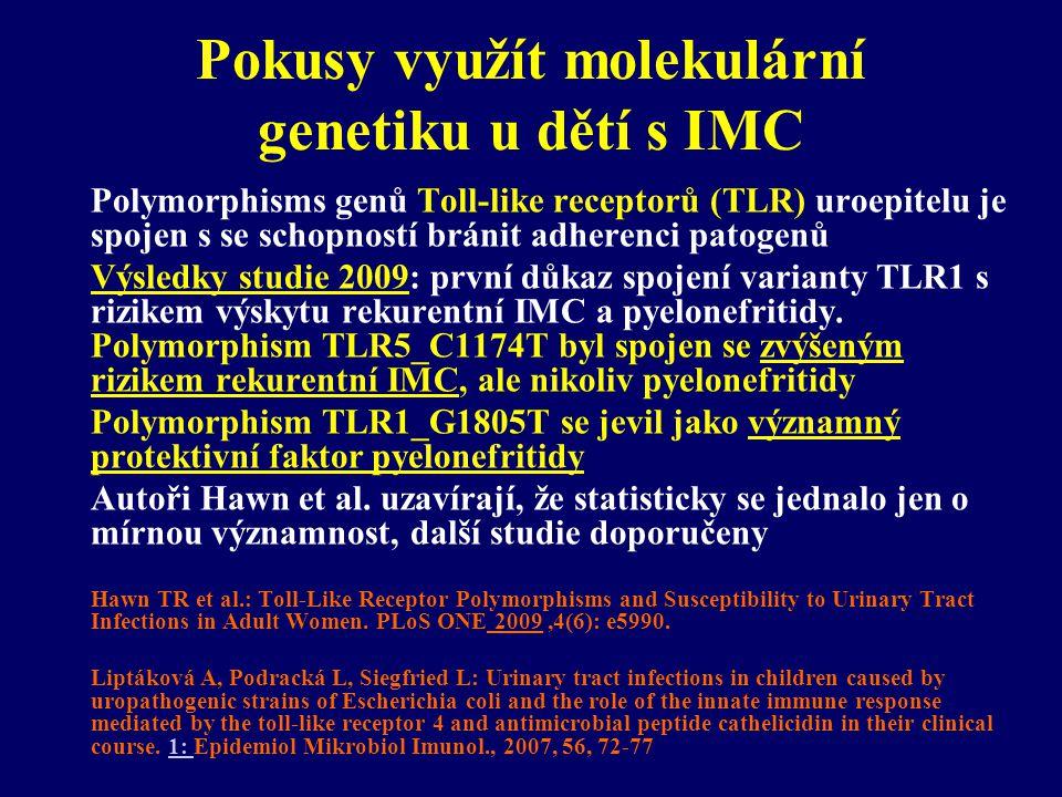 Pokusy využít molekulární genetiku u dětí s IMC