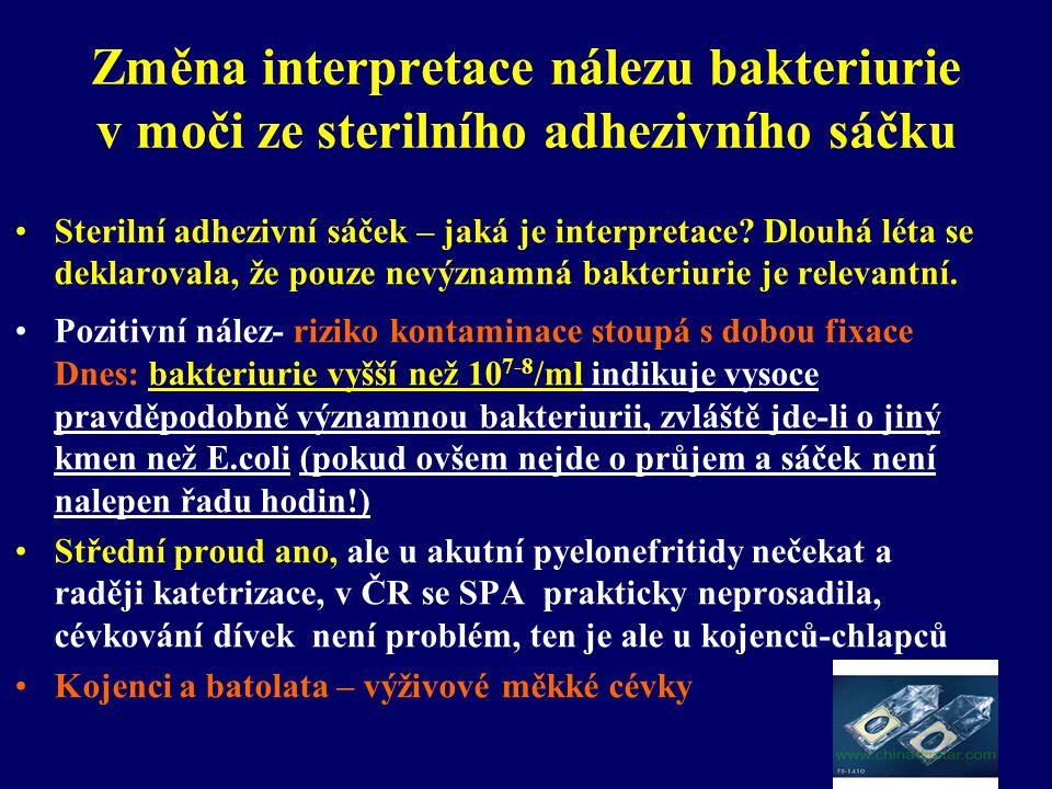 Změna interpretace nálezu bakteriurie v moči ze sterilního adhezivního sáčku