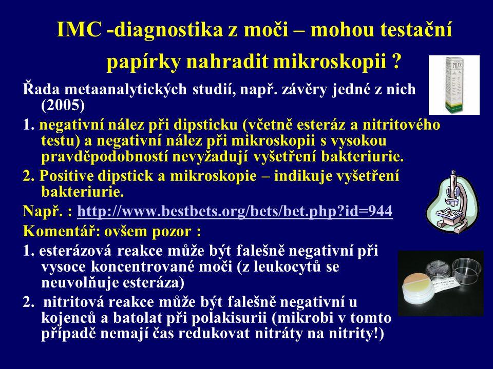 IMC -diagnostika z moči – mohou testační papírky nahradit mikroskopii