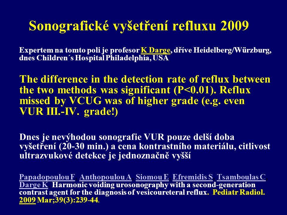 Sonografické vyšetření refluxu 2009