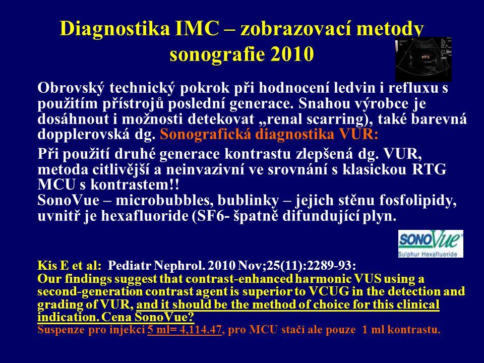 Diagnostika IMC – zobrazovací metody sonografie 2010