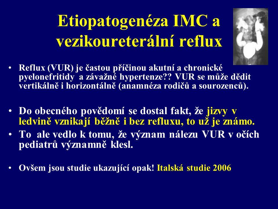 Etiopatogenéza IMC a vezikoureterální reflux