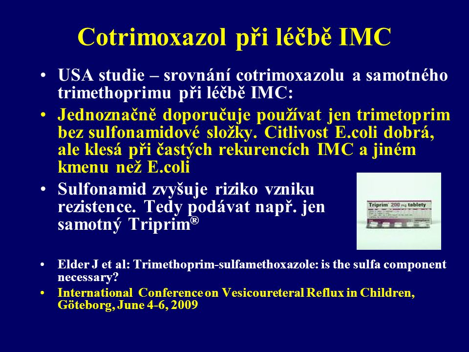Cotrimoxazol při léčbě IMC