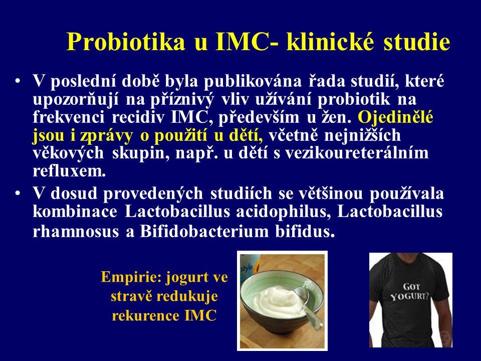 Probiotika u IMC- klinické studie