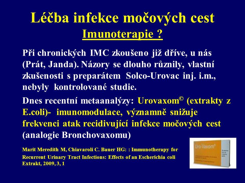 Léčba infekce močových cest Imunoterapie