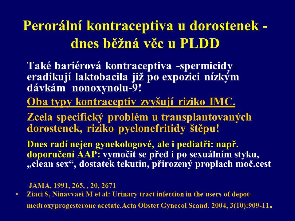 Perorální kontraceptiva u dorostenek - dnes běžná věc u PLDD