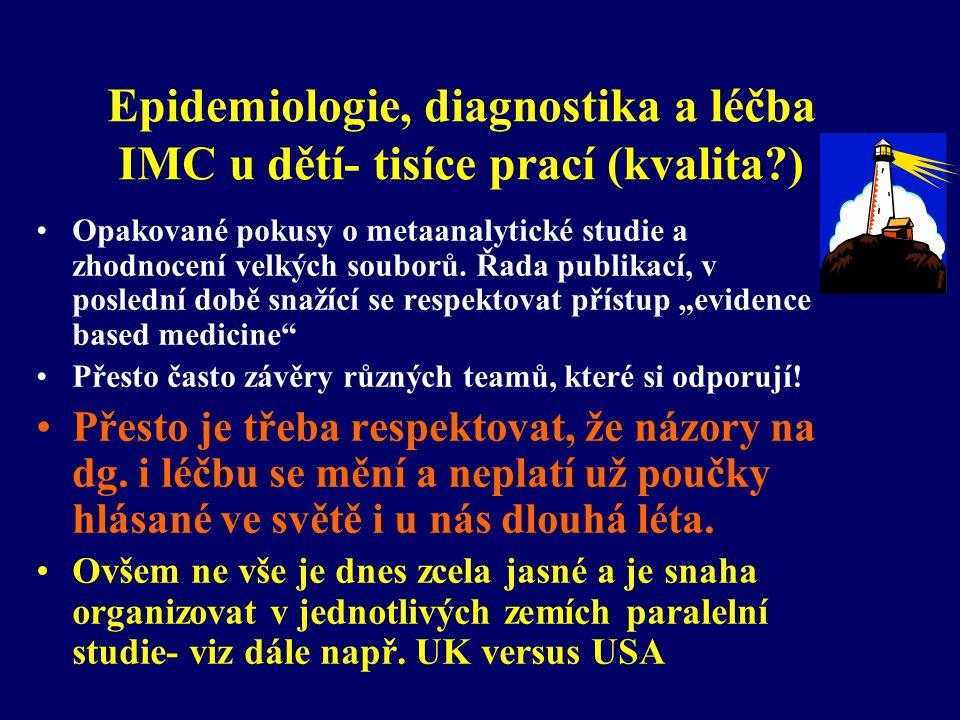 Epidemiologie, diagnostika a léčba IMC u dětí- tisíce prací (kvalita )