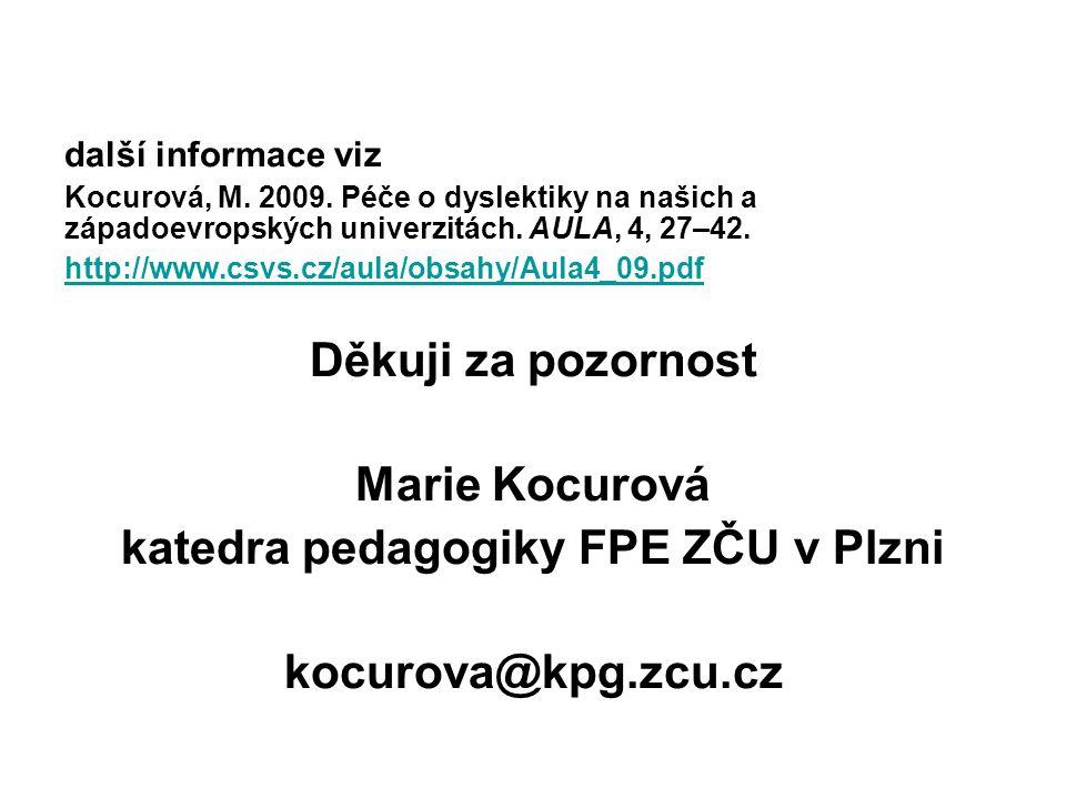 katedra pedagogiky FPE ZČU v Plzni
