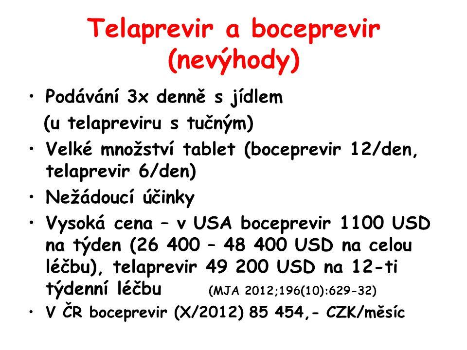 Telaprevir a boceprevir (nevýhody)
