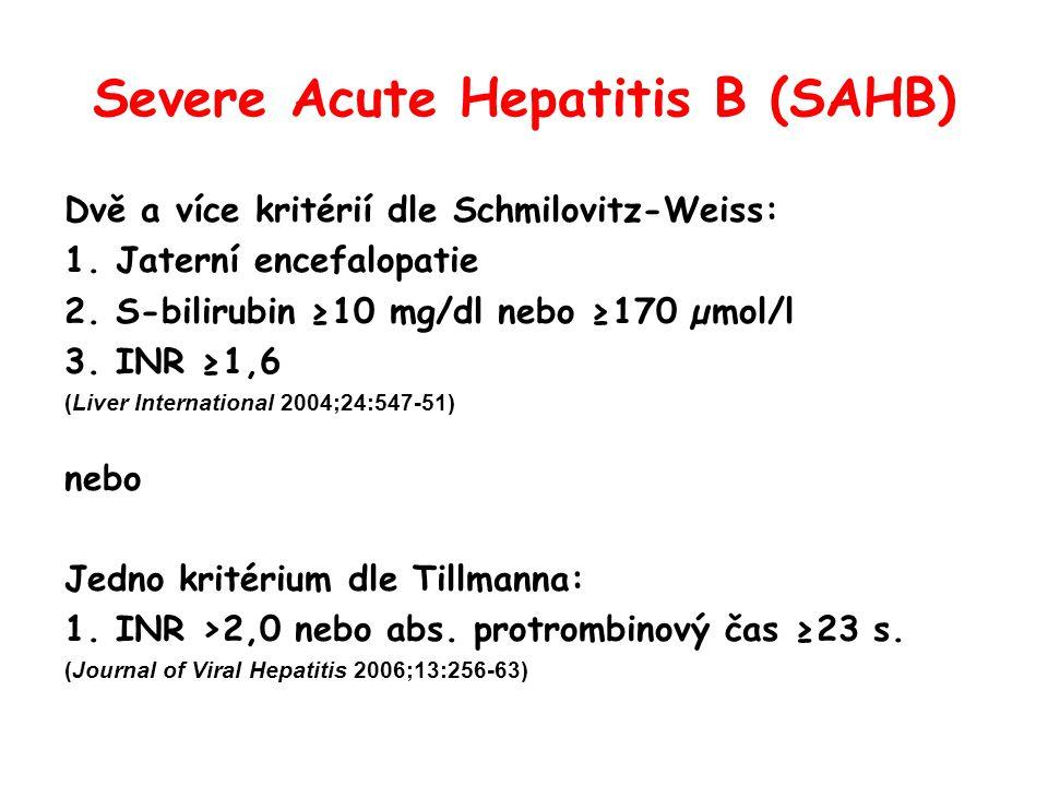 Severe Acute Hepatitis B (SAHB)