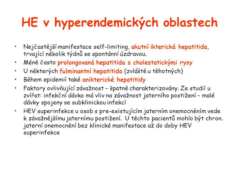 HE v hyperendemických oblastech