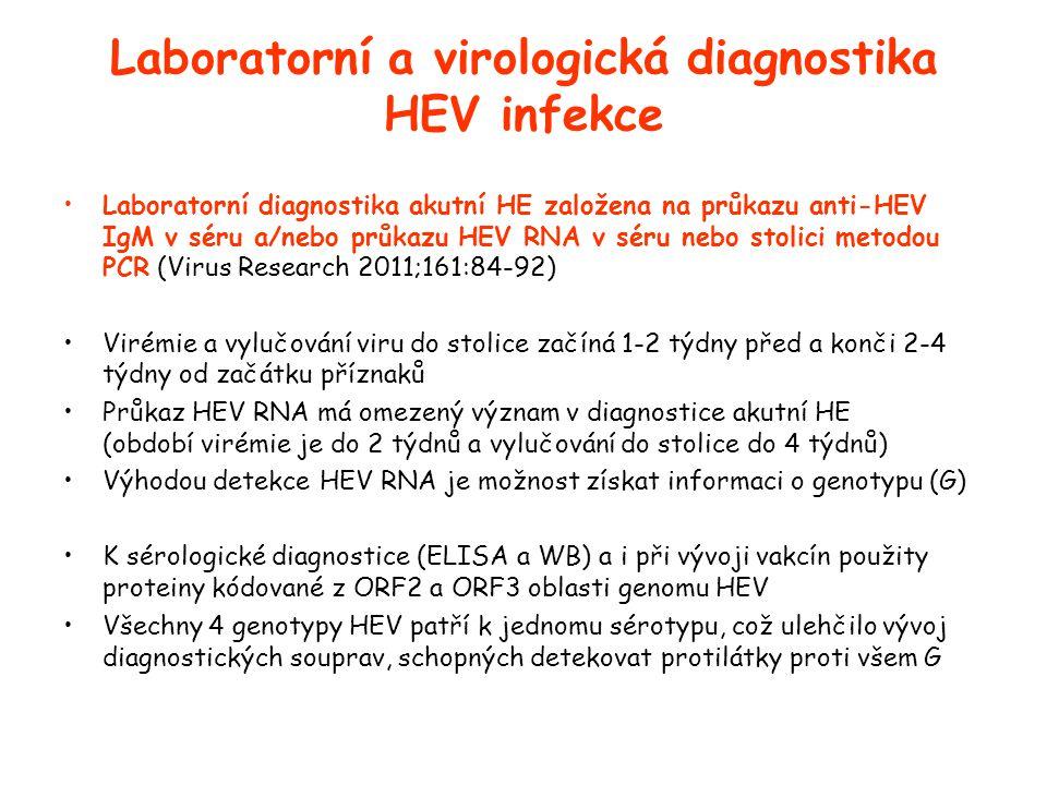 Laboratorní a virologická diagnostika HEV infekce