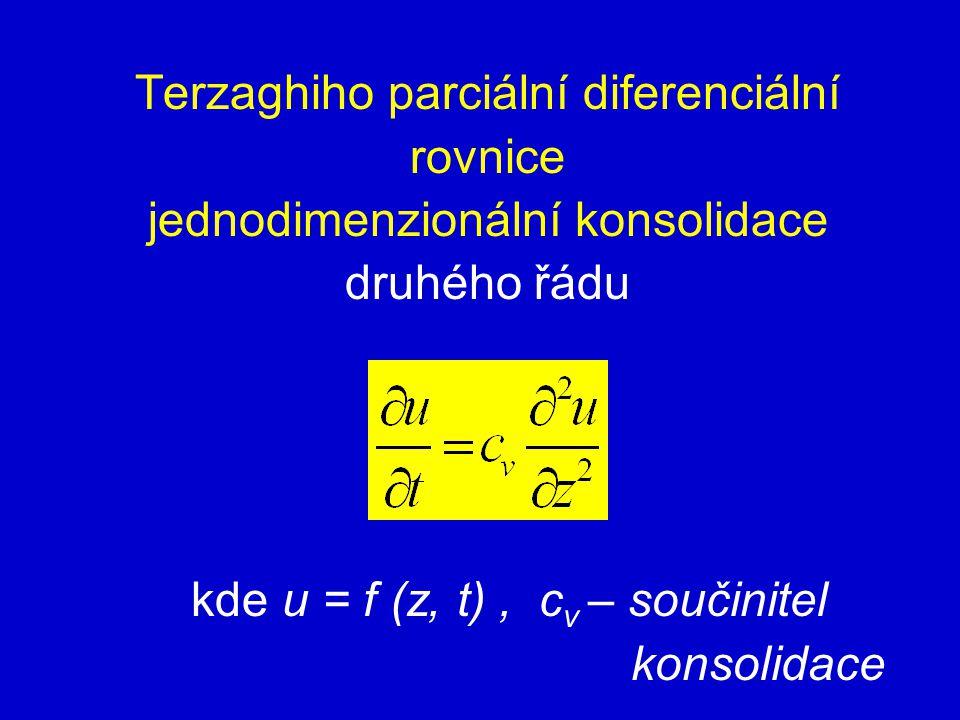 Terzaghiho parciální diferenciální rovnice