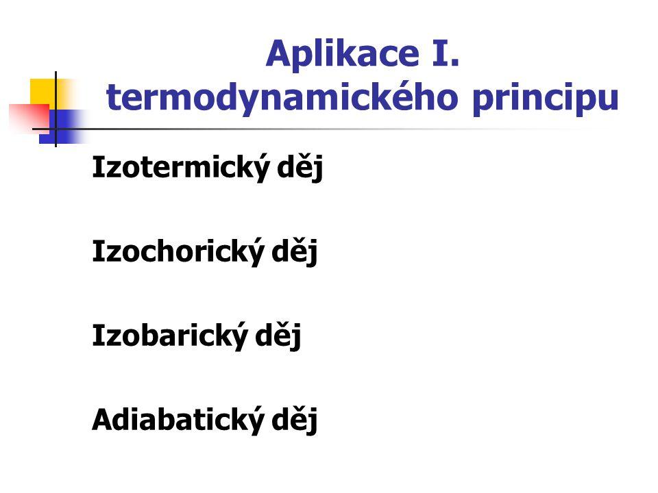 Aplikace I. termodynamického principu