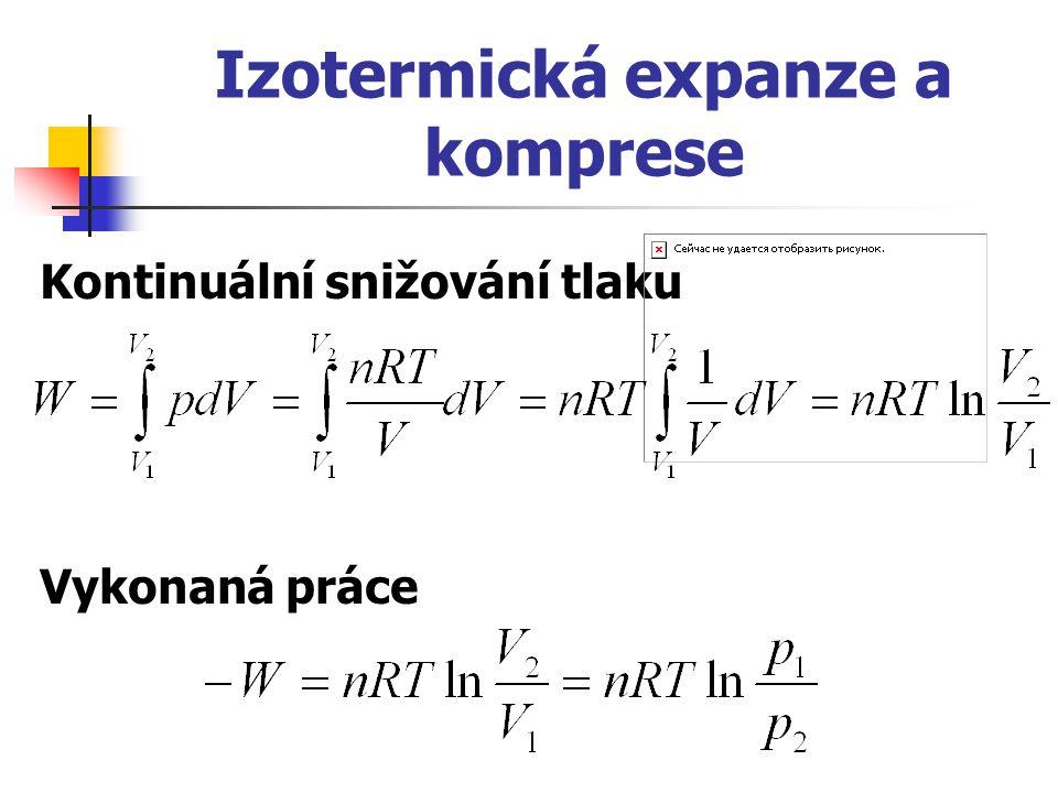 Izotermická expanze a komprese
