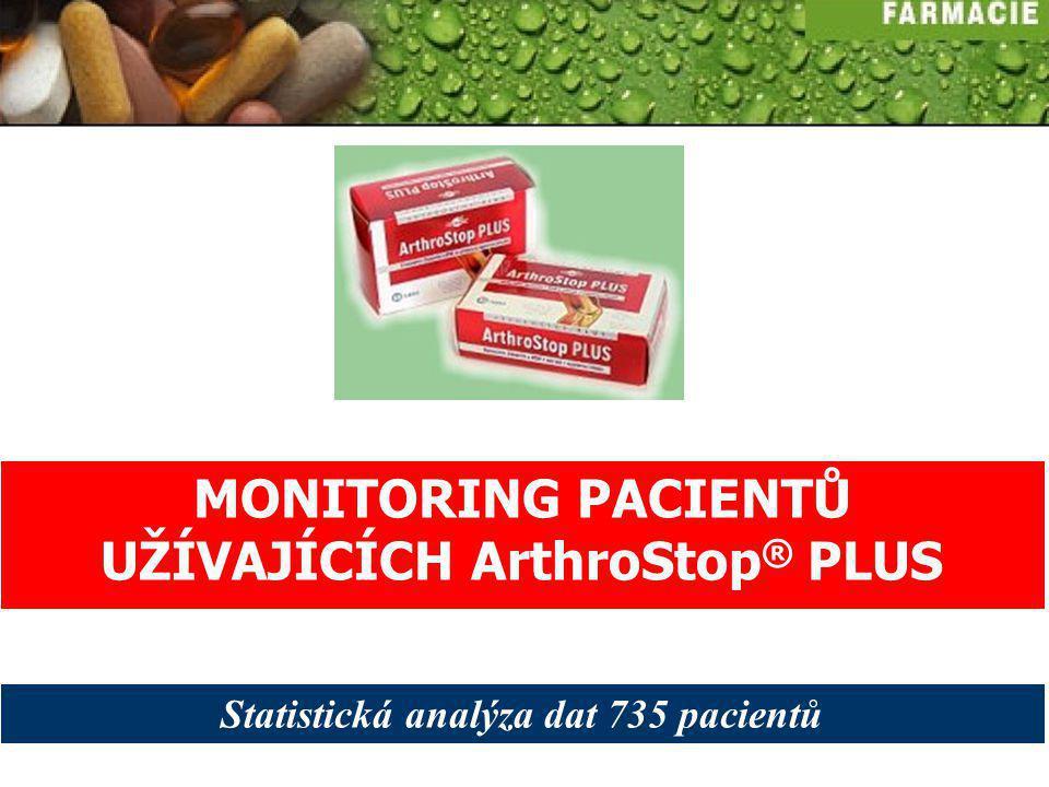 MONITORING PACIENTŮ UŽÍVAJÍCÍCH ArthroStop® PLUS