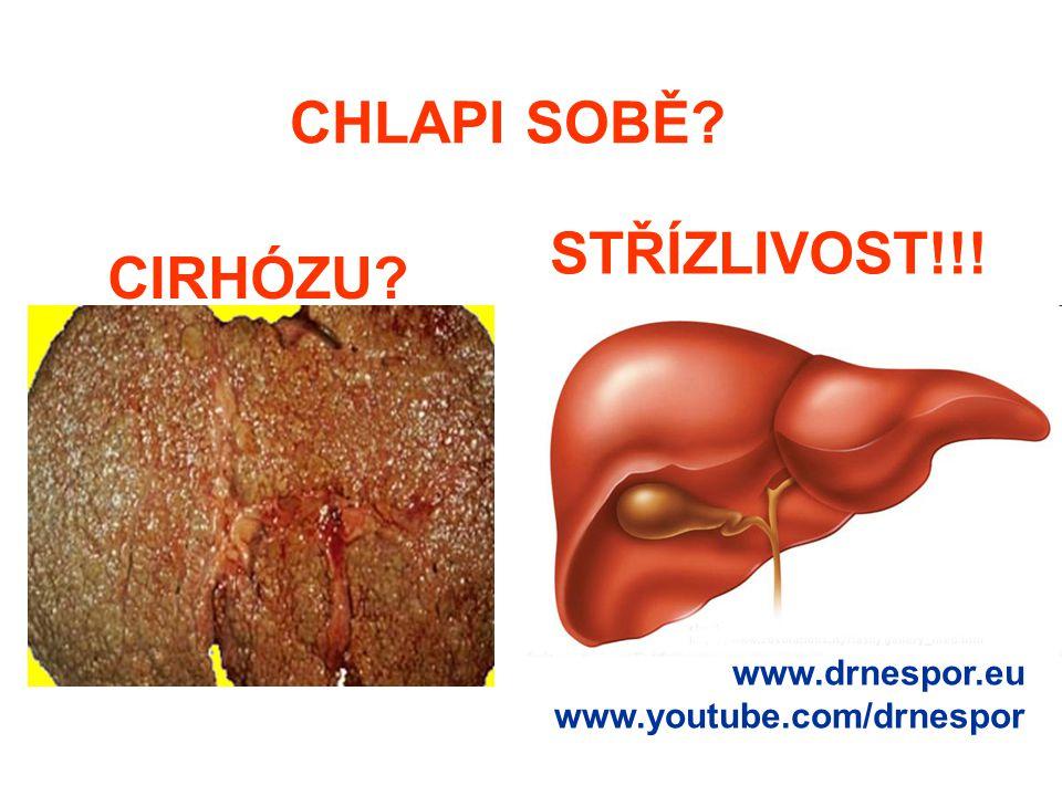 CHLAPI SOBĚ STŘÍZLIVOST!!! CIRHÓZU www.drnespor.eu