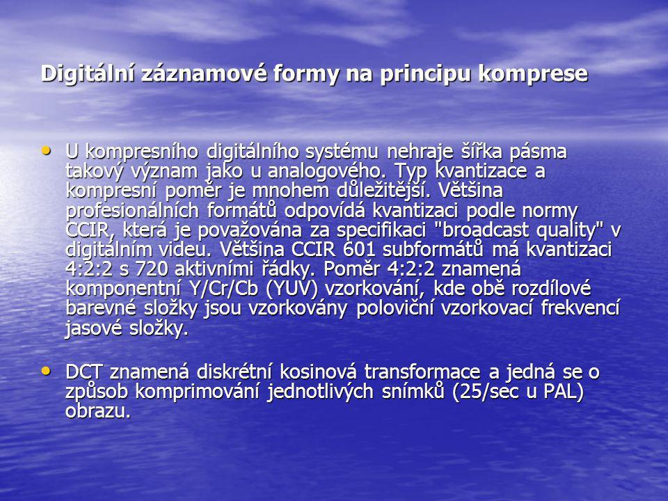Digitální záznamové formy na principu komprese